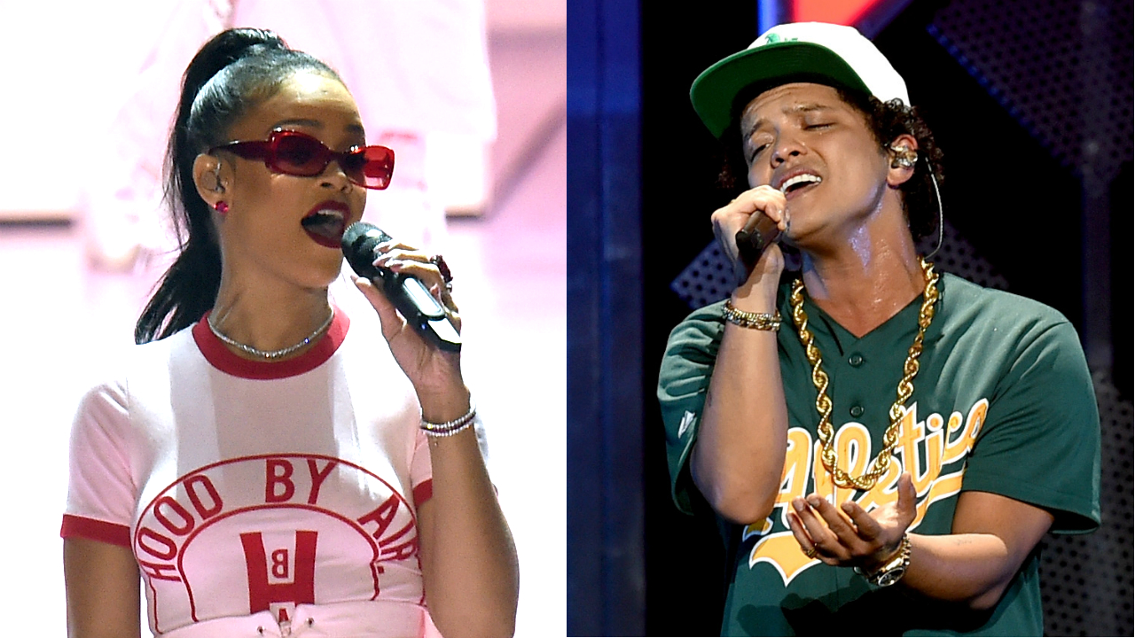 Rihanna and Bruno Mars